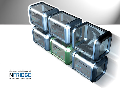 Nfridge, Modular Refrigerator by designer Roger Santos