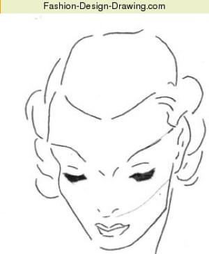 easy fashion face drawing