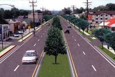 Rendering of Route 1 Median
