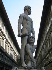 Florence - Tuscany Holiday 2005 (Miguelos) Tags: statue florence uffizi