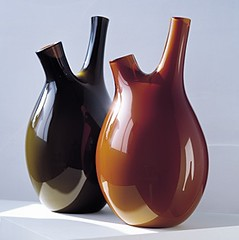 Salviati - PIVA VASE by Nigel Coates.jpg (G A I L E) Tags: green glass dark amber accessories organic vases salviati