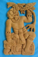 Maya wood carving 1 (Teyacapan) Tags: wood mexico madera maya crafts yucatan carving labna reproduction piknik cedro