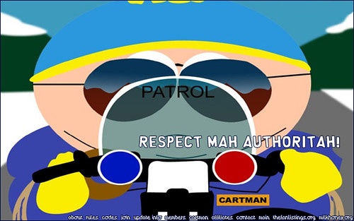 picture of Cartman as officer
