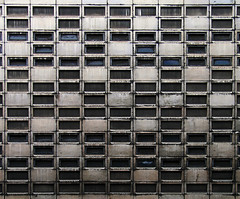 Grid (Ben Jones Photography) Tags: windows london public geotagged concrete grid guess dirty where guesswherelondon e1 brutalism faved gwl goulstonstreet postedbybenpatio benpatio guessedbytopcitybird geo:lat=51515206 geo:lon=0074008