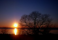 February Sunset 1 (Kirsten M Lentoft) Tags: sunset sky lake water denmark soe rightplacerighttime arresø arresoe momse2600 kirstenmlentoft
