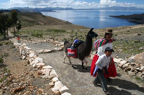 Isla del Sol en el Lago Titicaca