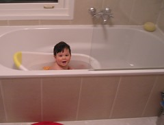 bath time #2 Not you and the camera again!
