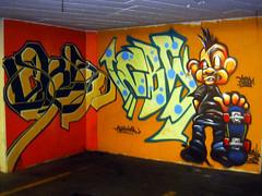 ATLAS CBS & AXIS CBS (LACMA last days) (TRUE 2 DEATH) Tags: streetart art museum graffiti losangeles parkinglot punk garage skate skateboard mohawk atlas skater lacma axis cbs miraclemile losangelescountymuseumofart lacmaparkinggarage atlascbs axiscbs