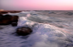 Sunset Wave or  (Hamed Saber) Tags: sunset red sea beach rock geotagged persian interestingness flickr meetup iran wave persia saber gathering iranian panning  hamed upcoming flickrmeetup persiangulf reddish farsi  flickrites  flickies flickrexplore hormozgan          upcoming:event=148177 ksh geo:lon=53908452 geo:lat=26527645