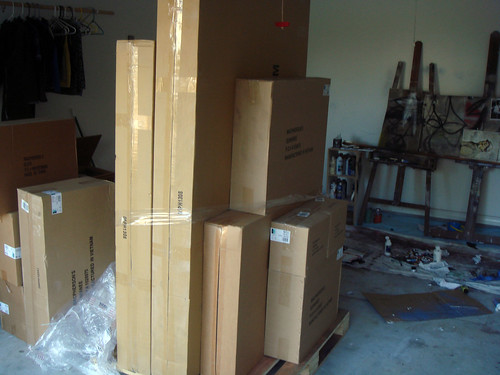 mad boxes of canvases