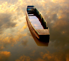 A boat in the sky (aremac) Tags: reflection water beautiful boat bravo sundown serbia great sava questfortherest supershot umca outstandingshots fivestarsgallery abigfave artlibre artlibrewinner impressedbeauty flickrplatinum superbmasterpiece flickrdiamond bofwinner bratanesque bestofr