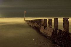 Roll on lighter evenings! (~Glen B~) Tags: uk longexposure england art night nikond70 cleveland northsea groyne teesside redcar groynes tamron28300mm satelliteportfolio redbubble:id=1005311mistygroynes