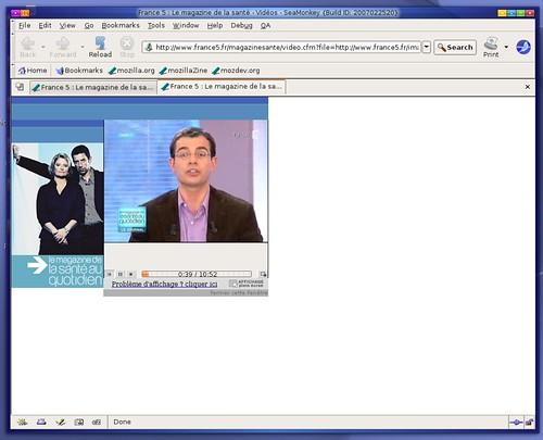 flux wmv du journal de la santé de France5 sous ubuntu linux AMD64