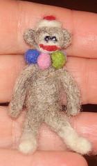 Sock Monkey front (starshowers) Tags: monkey felting felt sockmonkey needlefelted
