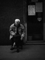 -- (Fernando D. Rubio) Tags: madrid old bw man socks bar death was chair there his wilderness gaze senescence obsolesence