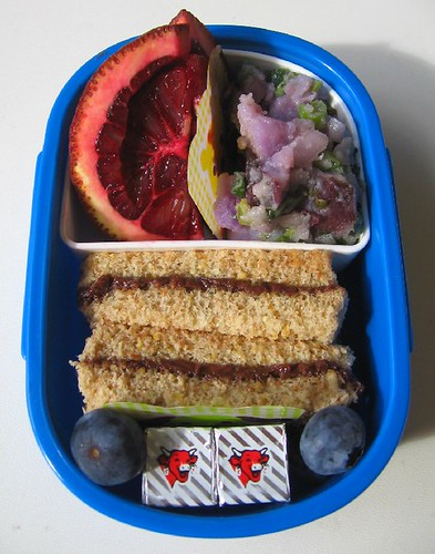 Nutella sandwich lunch for toddler お弁当