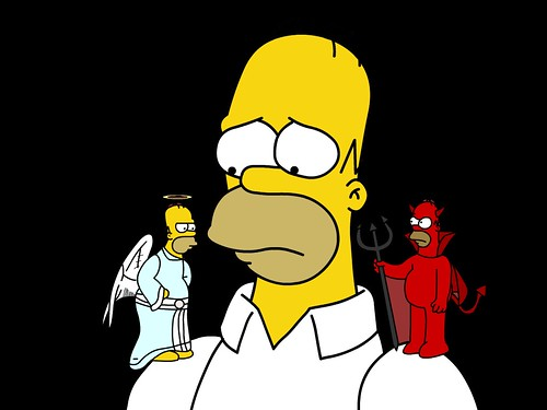 Image result for Angel and Devil Conscience