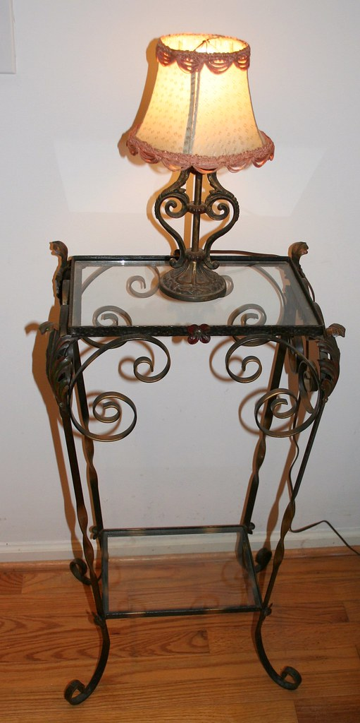 Linda B's  metal table and lamp