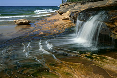 Beach, waterfall and amazing nature