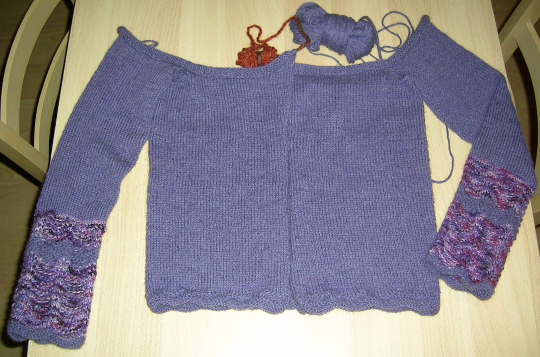 alpaca sweater - in progress