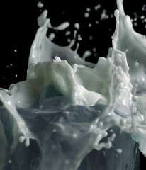 Masive Splash (kapuxino) Tags: milk fluid splash liquid leche fluido liquido p1f1