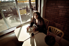 tracked down (sucka74) Tags: light portrait beach coffee pier brighton character flash surreal down pebbles seafront greasyspoon dunny cuppa tracked sigma1020mm 430ex strobist sucka74 dannykolasinski victoriadunsmore wwwdfkphotographycouk