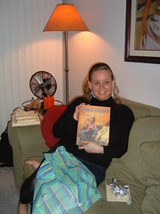 Christine with her latest Jamie Oliver book. (02/11/07)