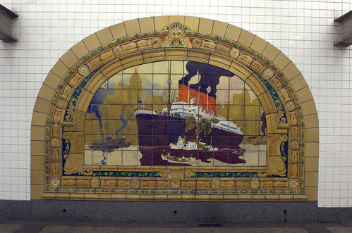 Marine Grill Murals (5/6), Broadway-Nassau Subway Station
