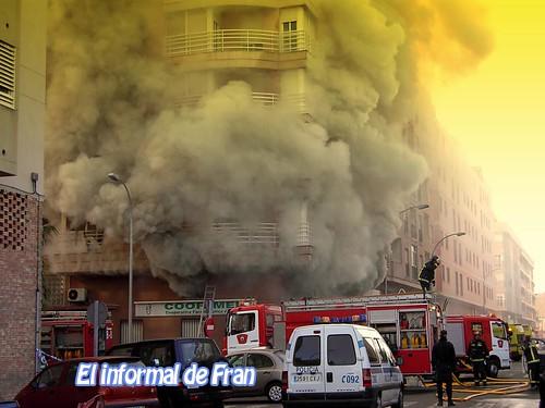 Incendio en Coofamel,Melilla