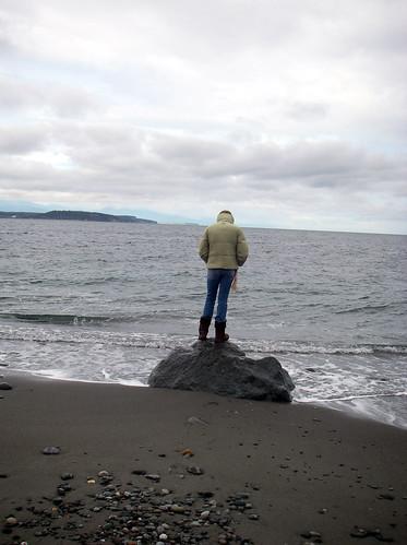 Mackenzie on a rock