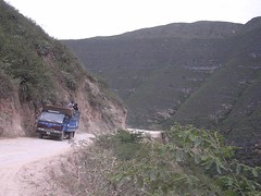 Trucks and Andean dirty roads Peru Ecuador adventure nomadic travel South America