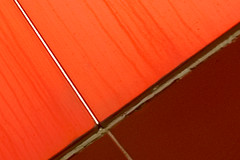 One (KarenPierson) Tags: red orange white abstract lines cross angles streaks anyway reddishorange blueberrymom