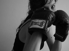 Boxing Girl 4 (ganessas) Tags: bw blancoynegro sports girl fight eyes bodylanguage boxing coolest blancinegre miradas ltytr1