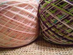 Lime N Violet yarn