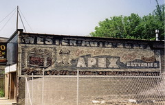 Apex Batteries Ghost Sign - Irving Park Road, Chicago (Mark 2400) Tags: auto park chicago sign ghost apex western irving batteries apix