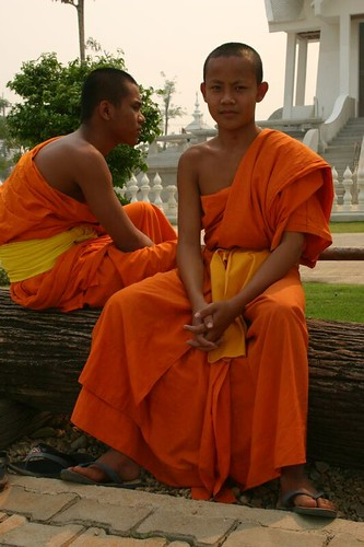 Novices at the White Temple, south of Chiang Rai