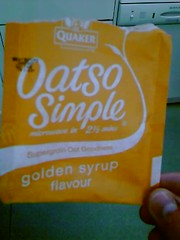 Syrup-flavoured oats (Tom Insam (old)) Tags: syrup oats exif:missing=true