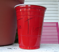 You Can Get It (Funkomaticphototron) Tags: red summer cup glass outside beverage plastic funk sharpie outing havingfun thefunk coryfunk