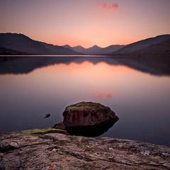 Sunset on Loch Arklet (tomgardner) Tags: sunset lake mountains dedication scotland hills granite tribute loch gloaming alansimpson