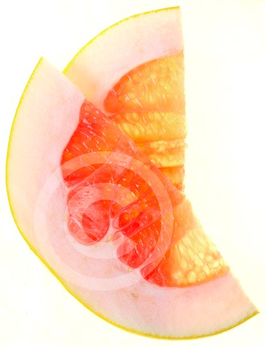 pomelo on a lightbox