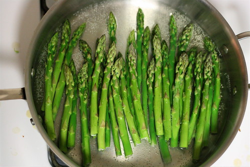 Asparagus in Simmering Water