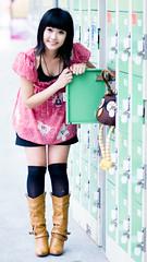 Akina (swanky) Tags: portrait people woman cute girl beautiful beauty smile face canon asian eos md model women asia pretty sweet femme taiwan 85mm babe belle taipei   taiwanese 2007   30d   dcview  akina      canonef85mmf18usm       emiruemirue mtv mtv ak