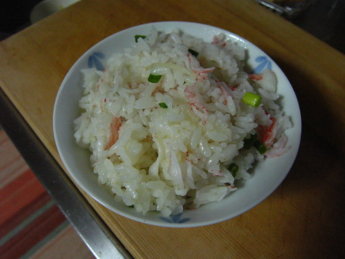 Crab and ginger rice