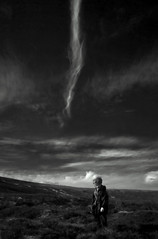 dash up the hill (Ray Byrne) Tags: sky bw cloud up walking landscape streak monotone hills northumberland dash canon350d moor cheviots landscapephotography thecheviots raybyrne blackandwhitle byrneoutcouk webnorthcouk