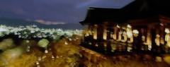Night at Kiyomizu-dera (jpellgen) Tags: 2005 water japan temple japanese pagoda pond kyoto asia buddha buddhist sony buddhism cybershot unesco 京都 日本 sakura nippon ume kansai 清水寺 kiyomizu kiyomizudera nihon heian kinki honshu dscp92 京都市 heiankyo 東山区