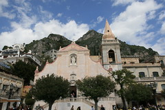 Church in the main piazza of Taormina