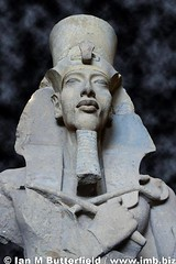 A statue of Akhenaten at Cairo Museum (Ian M Butterfield) Tags: africa old travel history tourism museum ancient sandstone egypt middleeast tourist study cairo egyptian pharaoh learning 18 18thdynasty akhenaten egyptology antiquities imb amarna amenhotepiv acheoloogy tellelamarna amarnaperiod