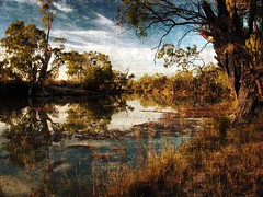 a river study (liam.jon_d) Tags: painterly art texture 30 creek photoshop river al artwork paisaje il canvas australiano rivers views creativecommons sur 100 eckerts australien 500 popular paysage technique landschaft southaustralia murray 1000 paesaggio murrayriver sud verso 1000views textural postprocessing likeapainting  australier  delsur  views1000 laustralie 25faves dusud  billdoyle katarapko   httpcreativecommonsorglicensesbyncnd30 laustralia mytopforty sdaustralien delsud   sdwrts   billartwork
