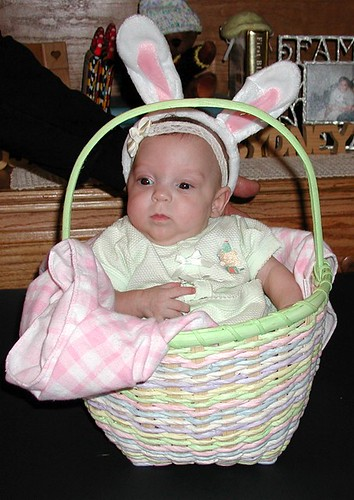 Lindsey IN her basket