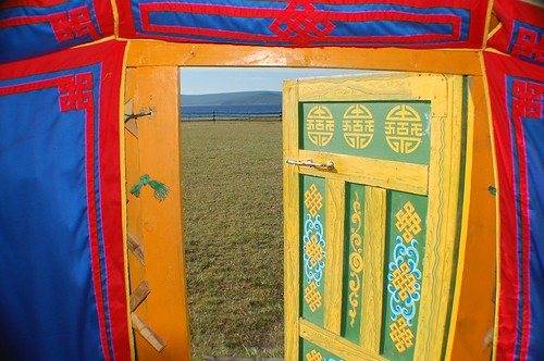 "view from a Mongolian ger • <a style=""font-size:0.8em;"" href=""http://www.flickr.com/photos/52976240@N00/456972493/"" target=""_blank"">View on Flickr</a>"